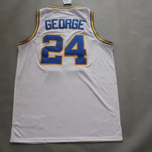 Cheap New Style Paul George Basketball #24 Indiana Pacers throwback white ZNK2030