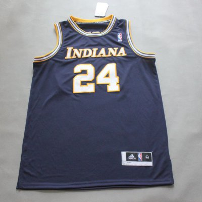 Cheap Paul George #24 Indiana Pacers retro blue Gear JWW2025