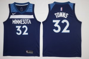 Cheap Sale Men's Gear Minnesota Timberwolves #32 Karl Anthony Towns Navy Blue 2017 Nike Swingman Stitched TVN2859