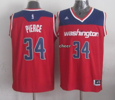 Cheaper Washington Wizards #34 Basketball Pierce red ZCI4207
