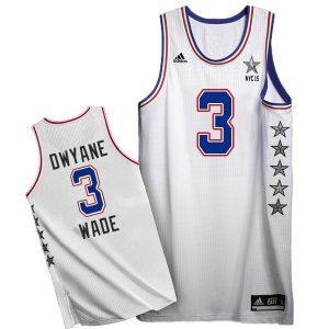 Cheapest 2015 All Star NYC Eastern Conference #3 Jersey Dwyane Wade White ELW160