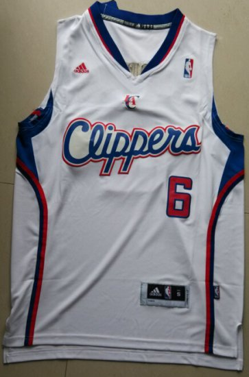 outlet store ff2cf cf9bf Discount DeAndre Jordan Clippers 6 White Apparel APH2300 ...