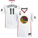 Fashionable Warriors #11 Klay Thompson White 2017 Chinese Merchandise Year Stitched DTH1599