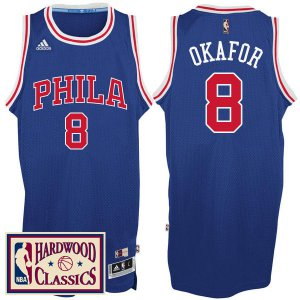 Fast Shipping Clothing Philadelphia 76ers #8 Jahlil Okafor 2016 17 Season Royal Hardwood Classics Throwback AGK3243