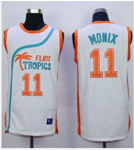 Find Quality Products Flint Tropics #11 Ed Monix Merchandise White Semi Pro Movie Stitched Basketball YWR1457