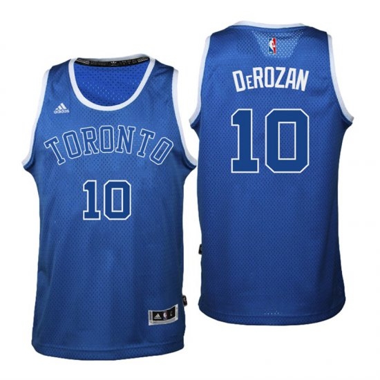 000e29c07 Find Quality Products Toronto Jerseys Raptors  10 DeMar DeRozan Huskies  2016 17 Season Alternates Blue XKV3835