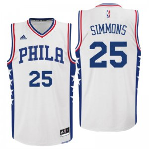 For Sale 2016 Draft 76ers #25 Ben Simmons Home White Apparel Swingman SCP3234