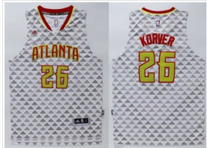 Hot Deal Atlanta Hawks #26 Kyle Korver Merchandise White Swingman Stitched IGS369