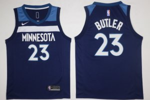 Hot Sale Cheap Men's Minnesota Jersey Timberwolves #23 Jimmy Butler Navy Blue 2017 Nike Swingman Stitched FPY2858