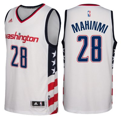 Lowest Price Washington Wizards #28 Ian Mahinmi 2016 17 Stars & Stripes White Alternate Swingman Clothing PBI4178