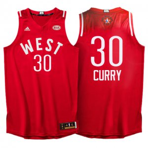 New Style 2016 All Star Western Conference Warriors #30 Stephen Curry Red Jersey DHV328