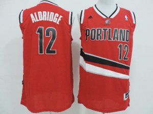New Style Portland Trail Gear Blazers Aldrige #12 Red LJJ3488