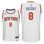 Online Cheap Knicks #8 Justin Holiday Home White Swingman Clothing ELC2962