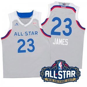 Order 2017 Orleans All Star Eastern Conference Cavaliers #23 LeBron James Gray Basketball ANF333