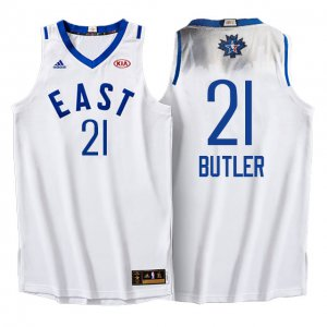Real 2016 Apparel All Star Eastern Conference Bulls #21 Jimmy Butler White YKT310