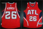 Top Quality Atlanta Hawks #26 Korver red Jersey LSE376