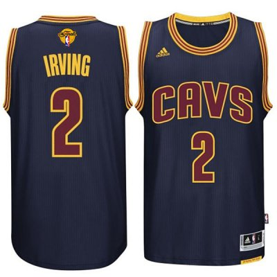 Top Quality Cleveland Cavaliers #2 Kyrie Irving 2015 16 Finals Navy Jersey Blue RVJ265
