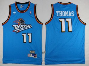 Top Quality Detroit Pistons #11 Gear Isiah Thomas Teal Green Hardwood Classics Soul Swingman Throwback GOT1399