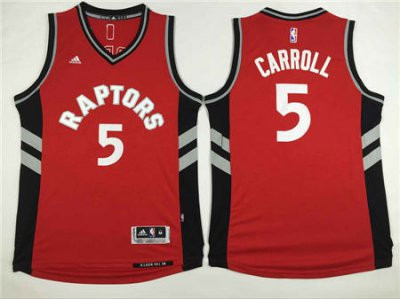Top Quality Toronto Raptors Basketball DeMarre Carroll #5 Red Stitched LYX3879