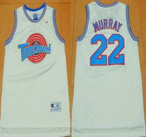 Unique design The Movie Jersey Space Jam 22 Bill Murray White Soul Swingman Basketball NPY1506