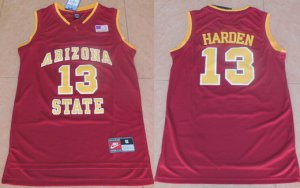 sport polyester fabric Men's Arizona Jerseys State #13 James Harden Red College Basketball DDI1911