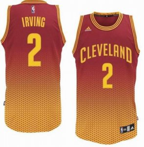 the balance Cleveland Cavaliers #2 Kyrie Irving Resonate Swingman Apparel Wine Gold OJX1224
