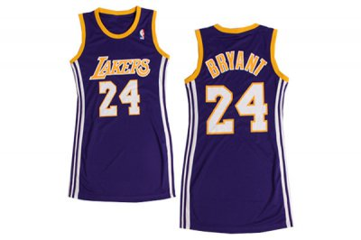 65% Discount Apparel Women Los Angeles Lakers 24 Kobe Bryant Purple Dress EUI4416