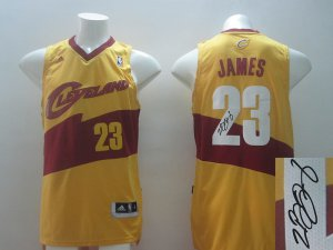 Best Autographed Cleveland Cavaliers #23 Gear James yellow WEU3389