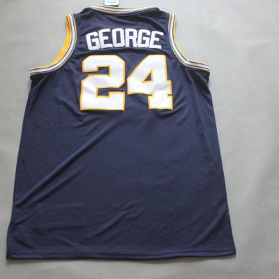 Best Cheap Paul George #24 Indiana Pacers Merchandise throwback blue MYN2027
