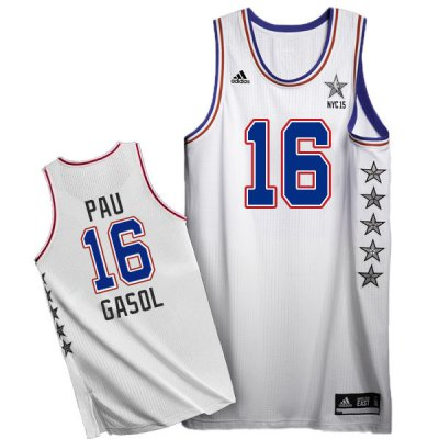 Big discount 2015 Clothing All Star NYC Eastern Conference #16 Pau Gasol White FRY150