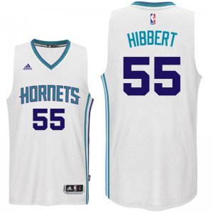Breathable Charlotte Hornets #55 Roy Hibbert Jerseys 2016 17 Home White Swingman ZPA617
