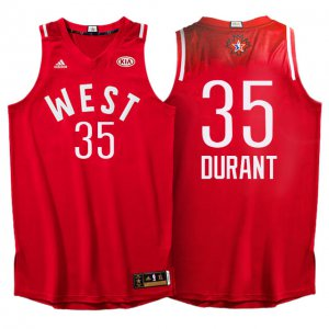 Buy Clothing 2016 All Star Western Conference Thunder #35 Kevin Durant Red VLO308