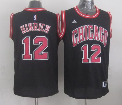 Buy Discount Chicago Bulls #12 Jersey hinrich black OQM768