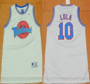 Buy Online Cheap The Movie Space Jam 10 Jersey Lola Bunny White Soul Swingman Basketball MHY1504