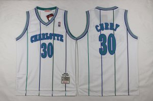 Buy Online Mitchell And Ness Charlotte Hornets #30 Apparel Dell Curry White Throwback Stitched NGF629