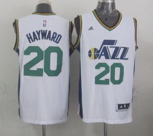 Chic Mens Utah Jazz Gordon Hayward white NBA 2014 15 Swingman Road ABI4137