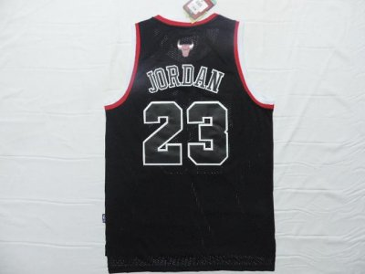 Durable Chicago Bulls #23 Jordan black Apparel Jerse ZBP752