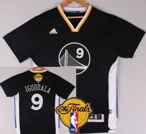 Genuine Golden State Warriors #9 Andre Iguodala Black Short Sleeved 2016 The Jersey Finals Patch RBJ39
