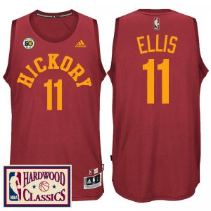 Hot Indiana Pacers #11 Monta Ellis Jerseys 2016 17 50th Season Red Hardwood Classics Throwback GGM1982