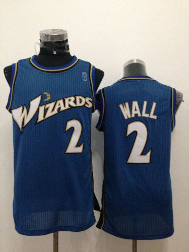 Hot Sale Cheap Washington Wizards Clothing #2 John Wall Blue SLY4212