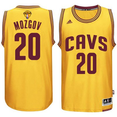 Lowest Price Cleveland Cavaliers #20 Timofey Mozgov 2015 Merchandise 16 Finals Gold VYS272