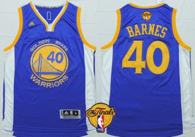 New Style Golden State Warriors Jerseys #40 Harrison Barnes Blue 2016 The Finals Patch HHU35