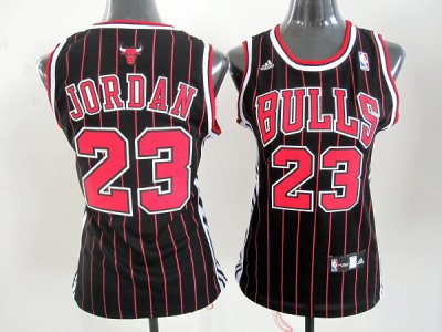 Official Quality women chicago Jerseys bulls 23 jordan black red stripe LZY4347