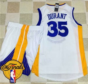 Online Hot Warriors #35 Kevin Durant White NBA A Set The Finals Patch Stitched Suit DHN1873