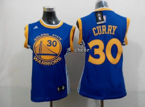Releases 2015 Jersey Women Golden State Warriors  30 Curry Blue YHH4300 0fa97f15e