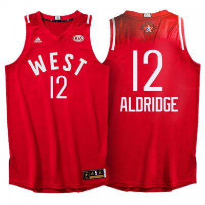 Releases 2016 All Star Western Conference Spurs #12 LaMarcus Aldridge Red Clothing RMC324