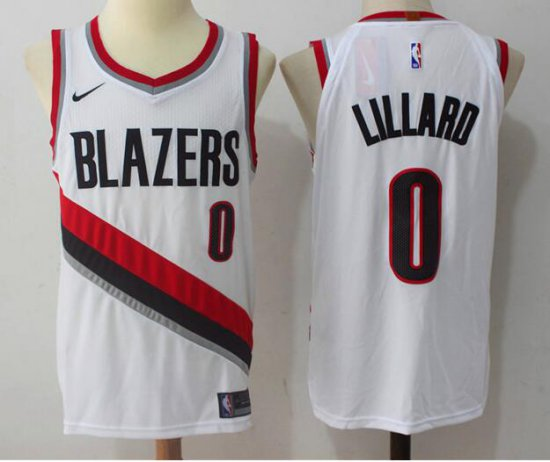 e435b8d92 Shopping Men s Portland Trail Blazers  0 Damian Lillard White 2017 Clothing  Nike Swingman Stitched XRL3457