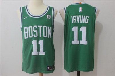 Smooth Men's Boston Celtics #11 Kyrie Irving Green Stitched Revolution Gear 30 Swingman SFD413