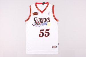 The Latest #55 Mutombo 76ers final white (heat Gear applied) IJU3271