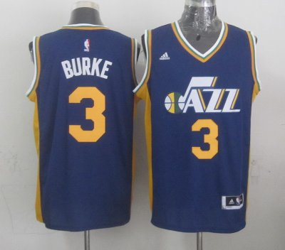 The last product Mens Utah Jazz Trey Burke Navy Gear Blue 2014 15 Swingman Road AVH4138
